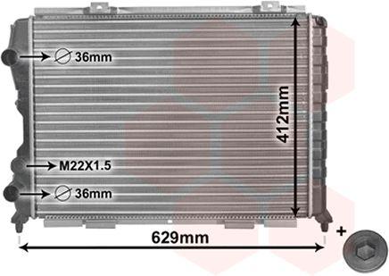 Radiateur, refroidissement du moteur - VAN WEZEL - 01002056