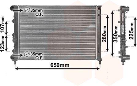 Radiateur, refroidissement du moteur - VAN WEZEL - 01002078