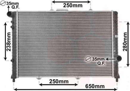 Radiateur, refroidissement du moteur - VAN WEZEL - 01002091