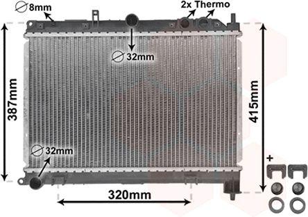 Radiateur, refroidissement du moteur - VAN WEZEL - 02002118
