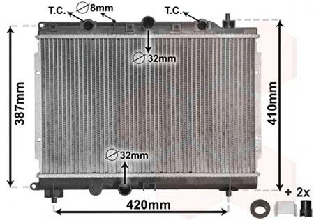 Radiateur, refroidissement du moteur - VAN WEZEL - 02002153