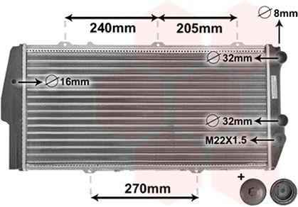 Radiateur, refroidissement du moteur - VAN WEZEL - 03002020