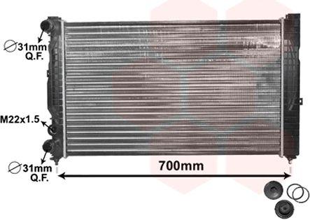 Radiateur, refroidissement du moteur - VAN WEZEL - 03002123