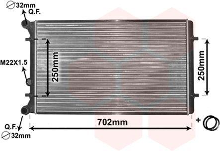 Radiateur, refroidissement du moteur - VAN WEZEL - 03002155