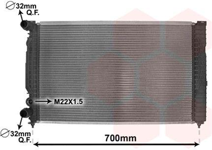 Radiateur, refroidissement du moteur - VAN WEZEL - 03002189