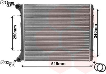Radiateur, refroidissement du moteur - VAN WEZEL - 03002220