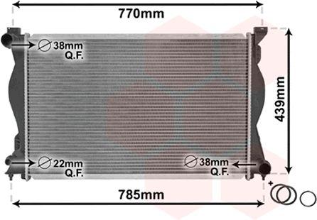 Radiateur, refroidissement du moteur - VAN WEZEL - 03002230