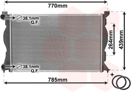 Radiateur, refroidissement du moteur - VAN WEZEL - 03002233