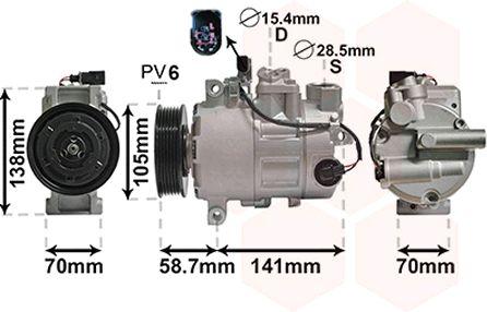 Compresseur, climatisation - VAN WEZEL - 0300K279