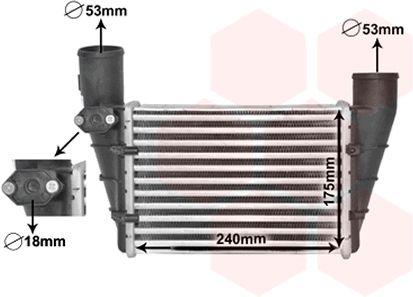 Intercooler, échangeur - VAN WEZEL - 03004112