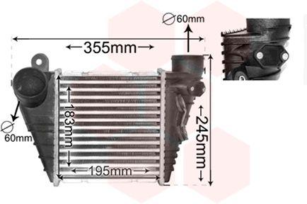 Intercooler, échangeur - VAN WEZEL - 03004172