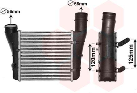 Intercooler, échangeur - VAN WEZEL - 03004221