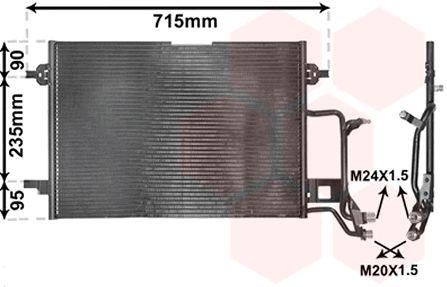 Condenseur, climatisation - VAN WEZEL - 03005116