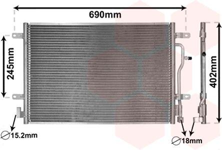 Condenseur, climatisation - VAN WEZEL - 03005199
