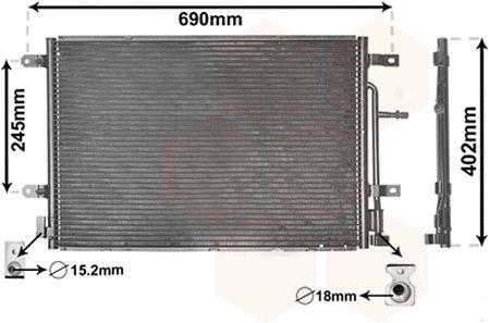 Condenseur, climatisation - VAN WEZEL - 03005238