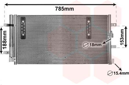 Condenseur, climatisation - VAN WEZEL - 03005297