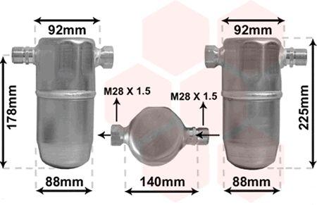 Filtre déshydratant, climatisation - VAN WEZEL - 0300D154