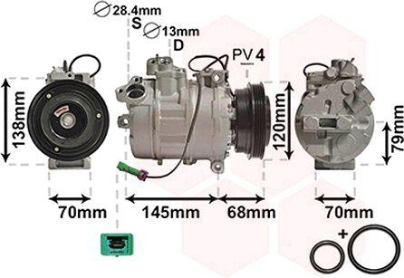Compresseur, climatisation - VAN WEZEL - 0300K011