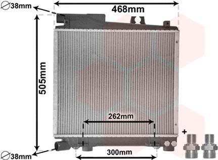 Radiateur, refroidissement du moteur - VAN WEZEL - 06002056