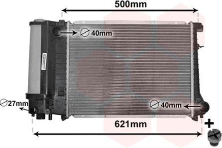 Radiateur, refroidissement du moteur - VAN WEZEL - 06002135