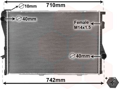 Radiateur, refroidissement du moteur - VAN WEZEL - 06002170