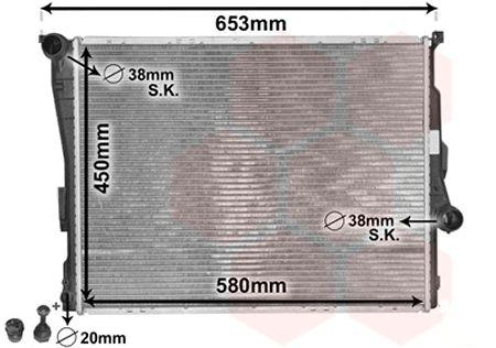 Radiateur, refroidissement du moteur - VAN WEZEL - 06002278