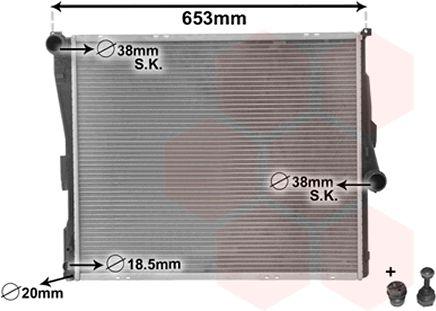 Radiateur, refroidissement du moteur - VAN WEZEL - 06002289
