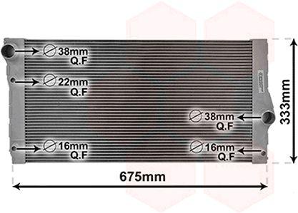 Radiateur, refroidissement du moteur - VAN WEZEL - 06002355