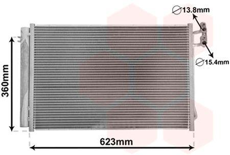 Condenseur, climatisation - VAN WEZEL - 06005295