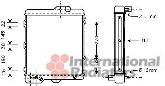 Radiateur, refroidissement du moteur - VAN WEZEL - 03002002