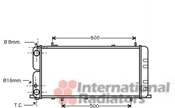 Radiateur, refroidissement du moteur - VAN WEZEL - 03002051
