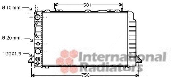 Radiateur, refroidissement du moteur - VAN WEZEL - 03002059