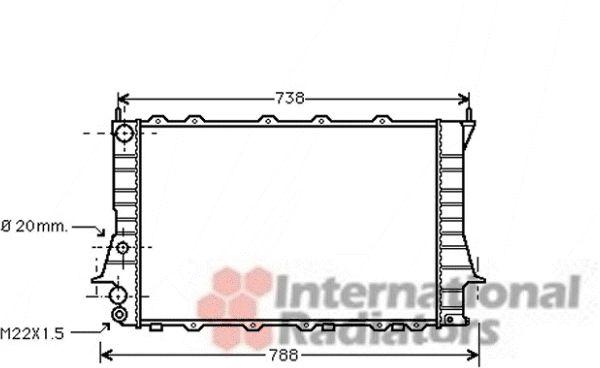 Radiateur, refroidissement du moteur - VAN WEZEL - 03002077