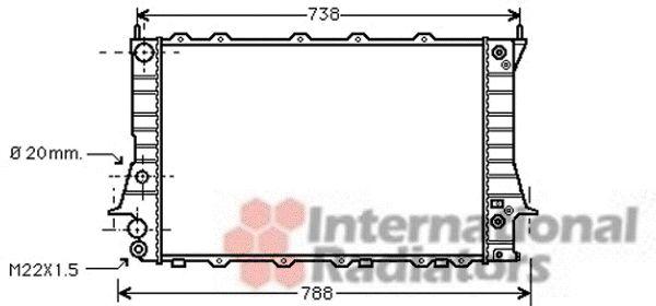 Radiateur, refroidissement du moteur - VAN WEZEL - 03002078