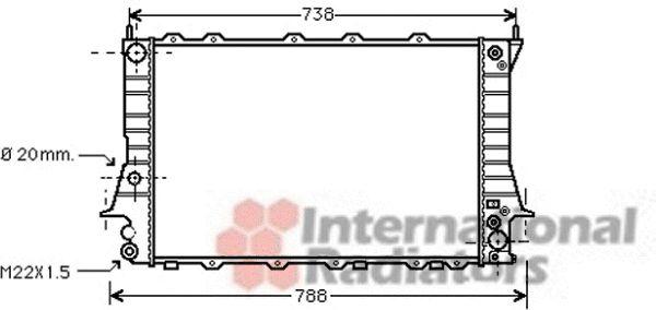 Radiateur, refroidissement du moteur - VAN WEZEL - 03002082