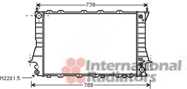 Radiateur, refroidissement du moteur - VAN WEZEL - 03002084