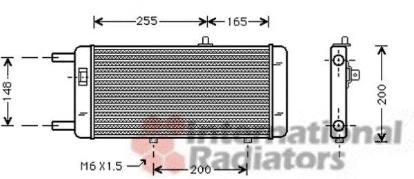 Radiateur, refroidissement du moteur - VAN WEZEL - 03002087