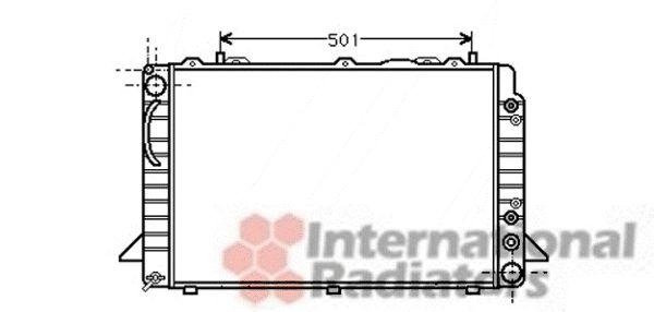 Radiateur, refroidissement du moteur - VAN WEZEL - 03002088