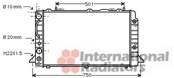 Radiateur, refroidissement du moteur - VAN WEZEL - 03002090