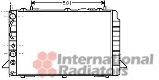 Radiateur, refroidissement du moteur - VAN WEZEL - 03002092