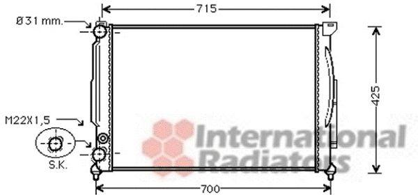 Radiateur, refroidissement du moteur - VAN WEZEL - 03002108