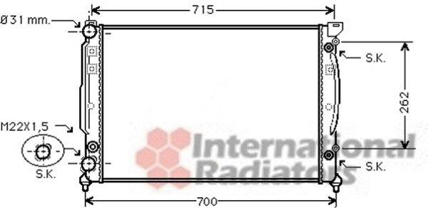 Radiateur, refroidissement du moteur - VAN WEZEL - 03002109