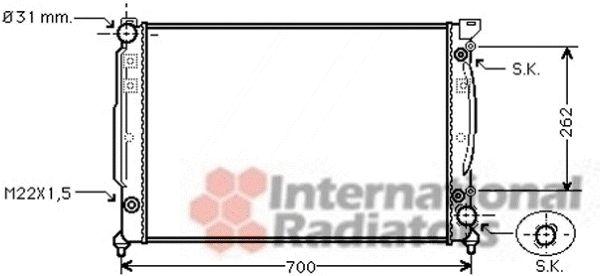 Radiateur, refroidissement du moteur - VAN WEZEL - 03002111