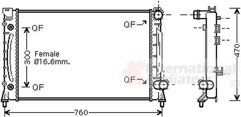 Radiateur, refroidissement du moteur - VAN WEZEL - 03002158