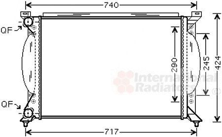 Radiateur, refroidissement du moteur - VAN WEZEL - 03002195