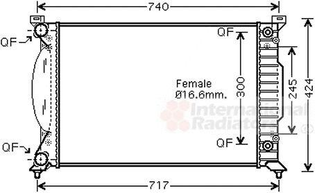 Radiateur, refroidissement du moteur - VAN WEZEL - 03002202