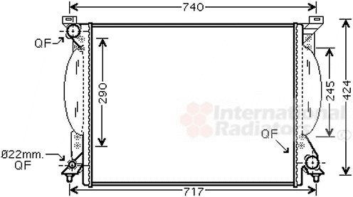 Radiateur, refroidissement du moteur - VAN WEZEL - 03002204