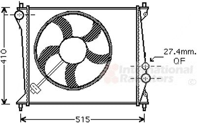 Radiateur, refroidissement du moteur - VAN WEZEL - 03002213