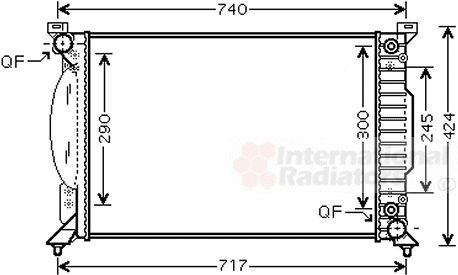 Radiateur, refroidissement du moteur - VAN WEZEL - 03002229