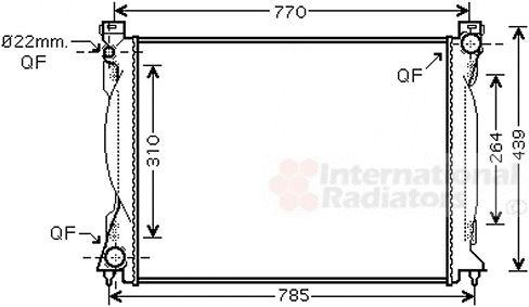 Radiateur, refroidissement du moteur - VAN WEZEL - 03002235